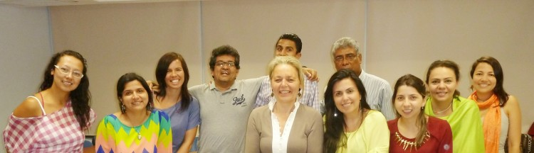 Martine Bouman and communication researchers at the Universidad del Norte